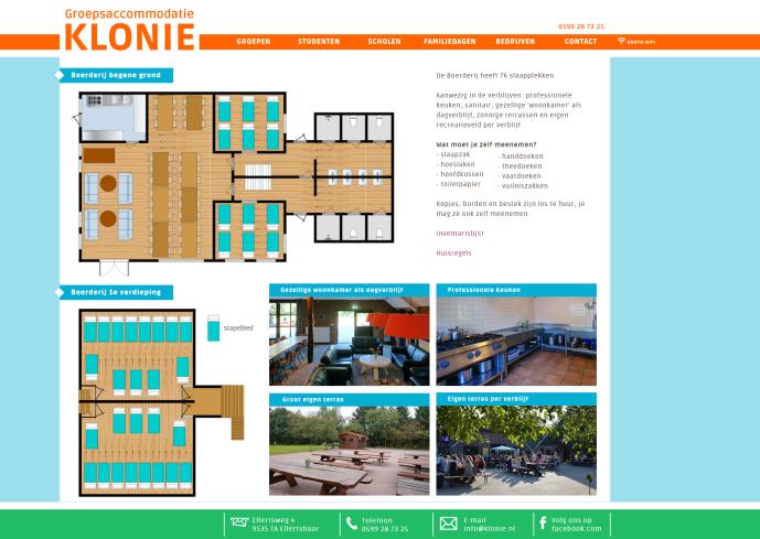 Klonie website